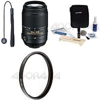 Nikon 55-300mm f/4.5-5.6G ED AF-S DX VR II Lens. Acc Bundle. Value Kit #2197