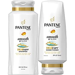 Pantene Pro-V Smooth and Sleek Shampoo and Conditioner Dual Pack, 49.4 fl oz