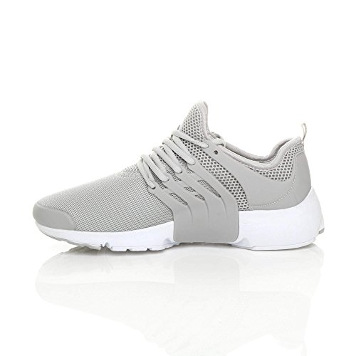 Ajvani Mens Lace up Sports Gym Fitness Running Flexible Trainers Casual Sneakers Size Grey htY28