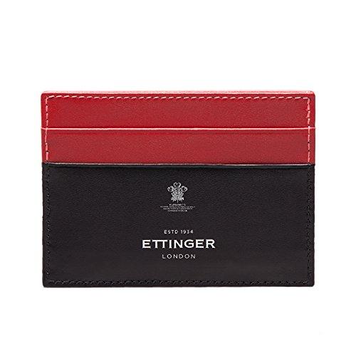 Ettinger Mens Sterling Flat Credit Card Case - Red/Black by Ettinger