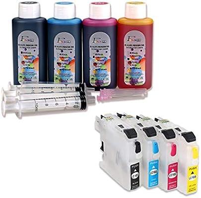 Fink LC223 - Kit de Tinta Recargable Compatible con impresoras ...