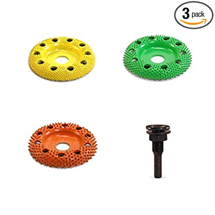 """2/"""" Disc Wheel Flat Face Coarse Grit Green Adapter included 1//4/"""" Shaft Power Tool"""