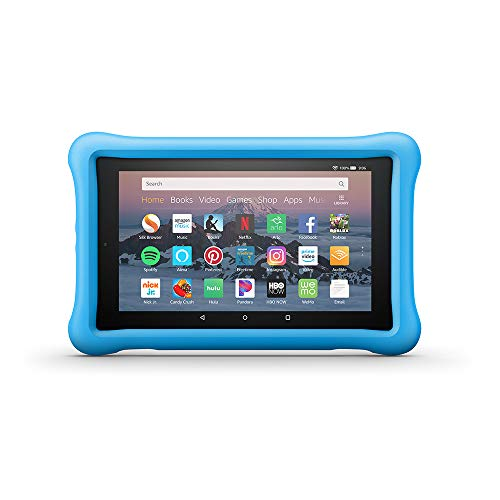 Large Product Image of Amazon Kid-Proof Case for Amazon Fire HD 8 Tablet (Compatible with 7th and 8th Generation Tablets, 2017-2018 Releases), Blue