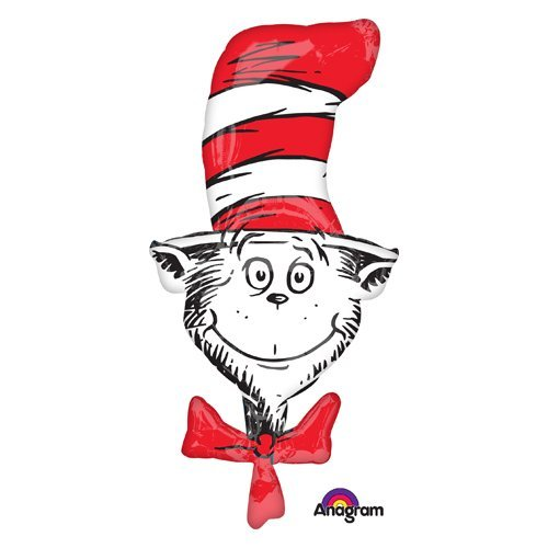 (Anagram 34682 Dr. Seuss Cat in The Hat Foil Balloon, 42