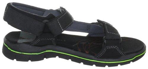 Ricosta Alento(M) 62207 - Sandalias de tela para niño Negro (schwarz/neon 756)