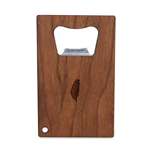 Price comparison product image Taiwan Bottle Opener With Wood, Stainless Steel Credit Card Size, Bottle Opener For Your Wallet, Credit Card Size Bottle Opener