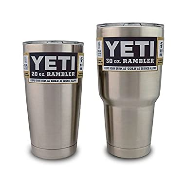 Yeti Rambler Stainless Steel Tumbler With Lid - 20 oz and 30 oz