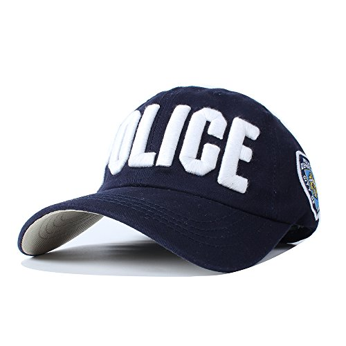Vankerful NYPD Police Embroidered Hats Adjustable Baseball Caps Unisex Navy (Police Caps)