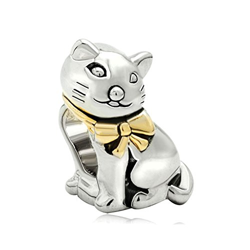 Charm Cat Bracelet Black (Joshua Home Jewelry Black Cat Charms for Bracelets Cat Cute Animal Style Charm Beads Charmss For Bracelets)