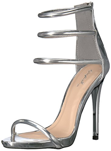 Qupid Women's Gladly-28 Dress Sandal Silver zztCsomD