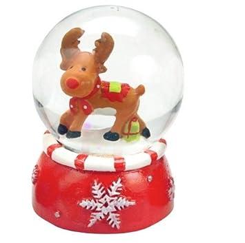 1 Mini Schneekugel Weihnachten: Schneemann oder: