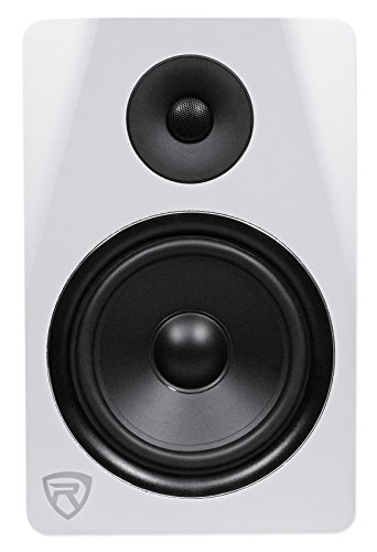 Rockville DPM8W 8' 2-Way 300W White Active/Powered Studio Monitor Speaker