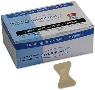 hygioplast estéril bajo alergia primeros auxilios tiritas, 6 x4,5 cm, caja de 100: Amazon.es: Salud y cuidado personal