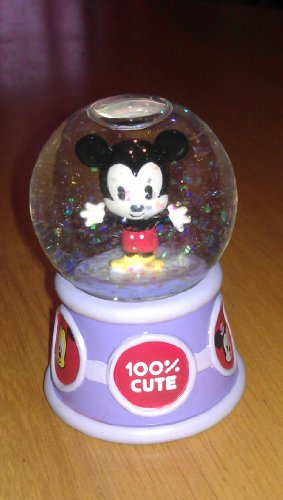 Disneys Cuties Mickey Mouse Mini Snow Globe 2.5