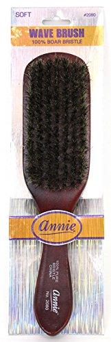ANNIE Wave Soft Brush (Model:2080), Natural wood, boar bristles, wooden brush, won