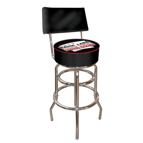 Four Aces Padded Swivel Bar Stool with Back (Padded Bar Vinyl Stools)