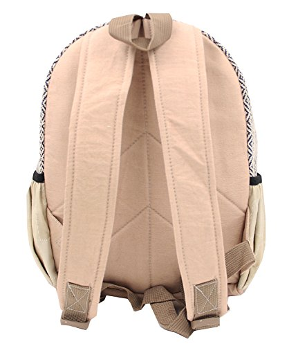39249a2d44c1 KayJayStyles Handmade Natural Hemp Nepal Backpack Purse for Women   Girls  Small Lightweight Daypack (DAYPACK1