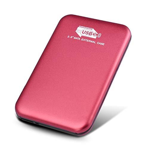 Disco Duro Externo para PC 2TB,Rojo MacBook Disco Duro Externo 2 TB Mac,Xbox Chromebook PS4