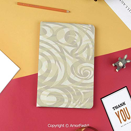 Case for Samsung Galaxy Tab S3 9.7 SM-T820 with Stand,Slim Fit Leather Folio Cover,Modern Art,Vintage Swirling Floral Design with Authentic Faded Colors Natural Effects,Khaki Beige