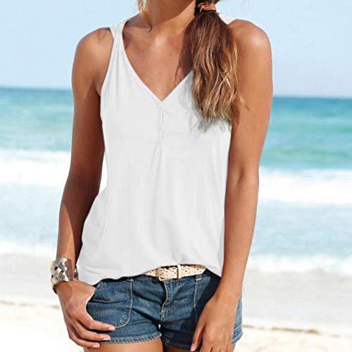 femme T à la d'été shirt grande très pour Zhrui blanc taille blanc plage couleur qatwFfW