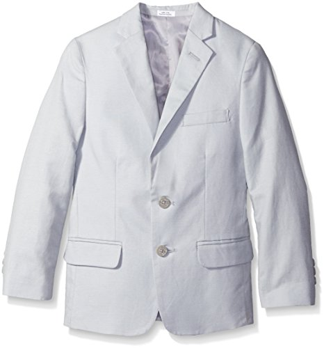 Calvin Klein Big Boys' Tri-Blend Linen Jacket, Light Grey, 16