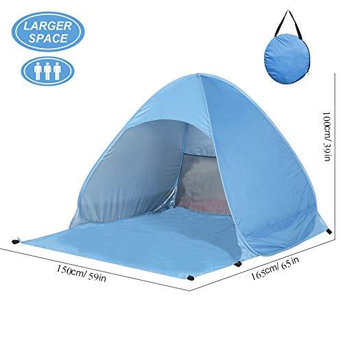 OUTAD Pop Up Beach Zelt Tragbare automatische Instant Camping Zelt wasserdicht Anti UV Sun Shelter für Familie, Garden Beach Park (blau)