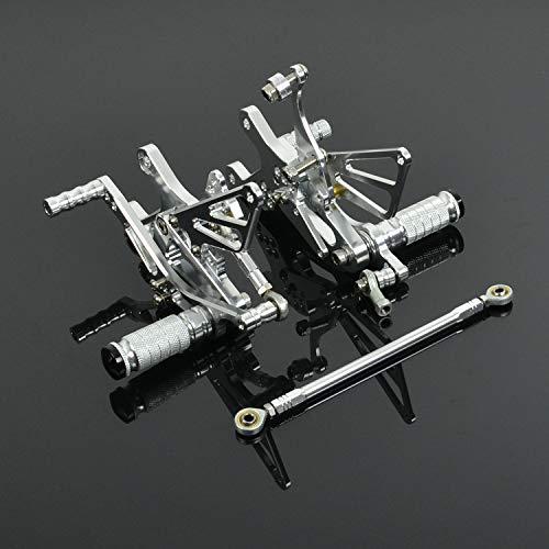 JFG RACING - Reposapiés Trasero Ajustable CNC para Yamaha YZF R1 2004 2005 2006: Amazon.es: Coche y moto