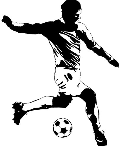 Sports Wall Appliques - RoomMates Soccer Player Peel and Stick Giant Wall Decals