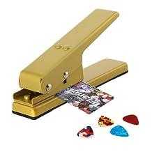 DBPOWER Custom Guitar Pick Punch, Plectrum Pick Press Plastic Card Hole Punch Picks Maker Cutter DIY Machine, Golden