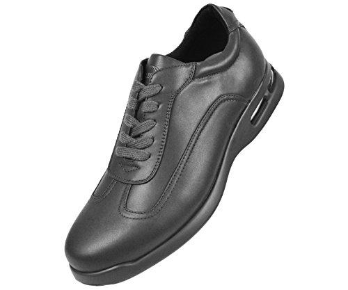 Sio Heren Soepele Low-end Vetersluiting Sneaker Met Bijpassende Gekleurde Ryan Grey Stijl In De Lucht