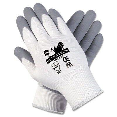 Memphis Glove Ultratech Foam Seamless 15 Gauge Nylon Knit Gloves with Straight Thumb