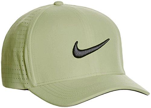 3b7d3e8a Amazon.com : Nike Men's Classic 99 Fitted Golf Hat, Palm Green/Black ...