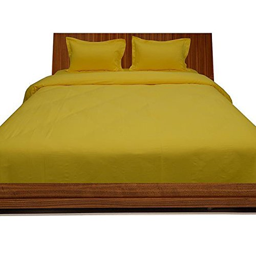 Cheap Laxlinen 500 Thread Count 100% Egyptian Cotton Super Quality 1PC Flat Sheet(Top Sheet) King/Standard Size, Yellow Solid hot sale