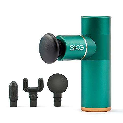Portable Body Muscle Massager, SKG Mini Massage Gun Handheld Deep Tissue Massager, Massager Quiet 4 Speeds Operation…