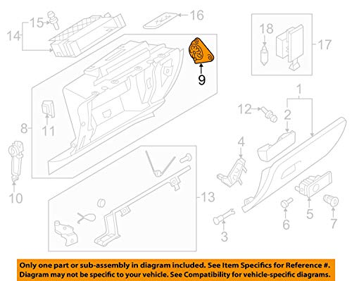 VOLKSWAGEN 3C1858635A GENUINE OEM GLOVE BOX FRAME STOP