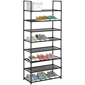 WOLTU Shoe Rack 8 Tiers 24 Pairs Tower Shelves Storage Organizer Stand  Cabinet Easy To