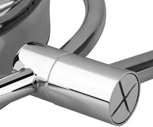 8.5インチのLEDウォールマウントバニティミラー10倍ズームミラーシルバーのメイクツール