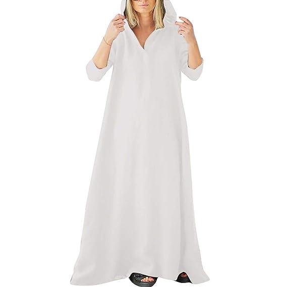 Falda de Lino para Mujer, Estilo Nacional Liso, Holgada ...