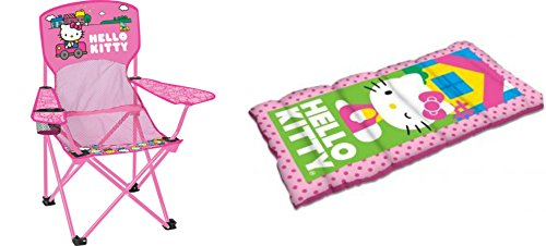 Hello Kitty Sleeping Bag and Chair 2 Piece Camping Set by DT