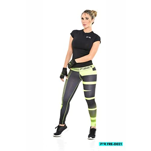 aa2b3f40e30dc FIBER LEGGINGS Activewear FREE Collection Gym Pant Lift Shape Colombian