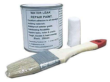 1 x 250 ml negro. Reparación de agua Stop para pintura. Reparaciones huecos en
