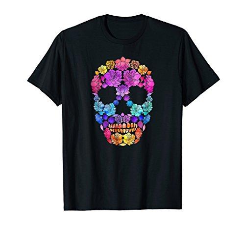 Tattoo Flowers Skull Sugar T-shirt For Man Women Kids