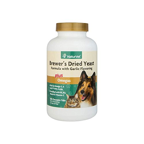 NaturVet Brewer's Yeast & Garlic Tablets, 500 (Garlic Tablets Dogs)