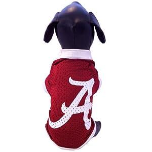 NCAA Alabama Crimson Tide Athletic Mesh Dog Jersey (Team Color, Tiny)