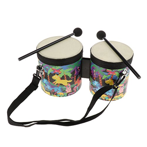 Baosity Hand Drum Set with Case Orff Musical Instruments Toy for Children Gift by Baosity