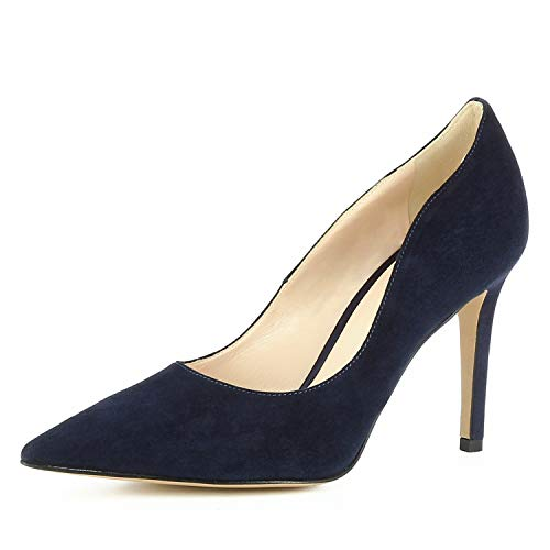 Bleu Foncé Femme Escarpins Natalia Daim qw84tFxW1