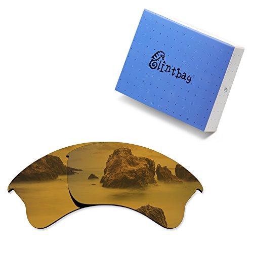 Polarized Bronze Mirror - Glintbay 100% Precise-Fit Replacement Sunglass Lenses for Oakley Flak Jacket XLJ - Polarized Bronze Gold Mirror
