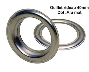 50 Oeillets Métal Pour Rideaux Ø40mm Fixation Presse À Oeillet (Alu ...