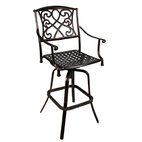 LTL Shop Cast Aluminum Swivel Bar stool Patio - Target Ca Glendale