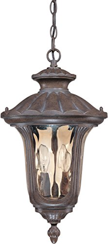 Outdoor Pendant 2 Light with Fruitwood Finish Aluminum Die-Casting Candelabra Base 11 inch 120 Watts